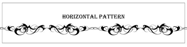 Mooi abstract grafisch horizontaal patroon stock illustratie