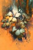 Mooi abstract kleurrijk bloemenontwerp Royalty-vrije Stock Fotografie