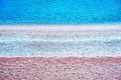 Mooi abstract landschap op de kust van het overzees met streep Stock Fotografie