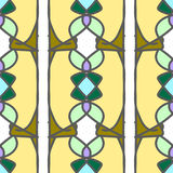 Mooi abstract naadloos naadloos patroon Stock Afbeelding
