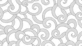 Mooi abstract naadloos patroon met het krullen van netlijnen en ornamenten Royalty-vrije Stock Afbeelding