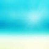 Mooi Abstract strand en tropische overzees De onduidelijk beeld abstracte zomer Royalty-vrije Stock Fotografie