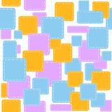Mooi abstract vector naadloos die patroon met multicolored stukjes op een voorbeeldenboekdocument worden getrokken Stock Afbeeldingen