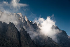 Mooi Alpien Landschap Royalty-vrije Stock Afbeelding