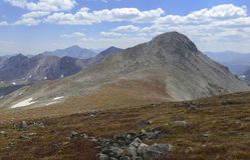 Mooi Alpien landschap in Rocky Mountains, Colorado waar vele 13ers en 14ers worden gevestigd Royalty-vrije Stock Fotografie