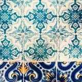 Mooi Art Texture/Traditionele overladen Portugese decoratief Royalty-vrije Stock Afbeelding