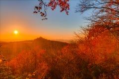 Mooi Autumn Landscape Panorama stock afbeeldingen