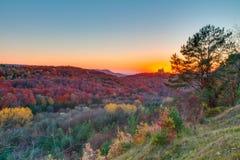 Mooi Autumn Landscape Panorama royalty-vrije stock foto