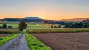 Mooi Autumn Sunrise royalty-vrije stock fotografie