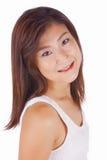 Mooi Aziatisch jong vrouwenportret stock foto's