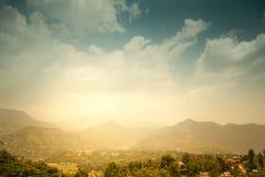 Mooi Aziatisch landschap royalty-vrije stock foto's