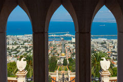 Mooi beeld van de Bahai-Tuinen in Haifa Israel stock fotografie