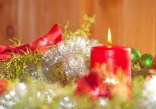 Mooi beeld van een kaars van Kerstmis Stock Fotografie