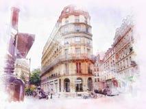 Mooi beeld van Parijs vector illustratie