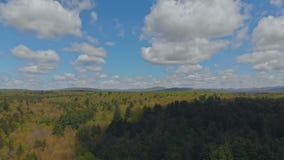 Mooi bergenlandschap in Pocono-Bergen Pennsylvania stock videobeelden