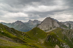 Mooi berglandschap in de Lechtal-Alpen, Noord-Tirol, Oostenrijk Royalty-vrije Stock Foto's