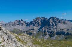 Mooi berglandschap in de Lechtal-Alpen, Noord-Tirol, Oostenrijk Royalty-vrije Stock Fotografie