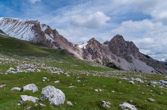 Mooi berglandschap in het dolomiet, fanes-Sennes-Prags, Italië Stock Fotografie