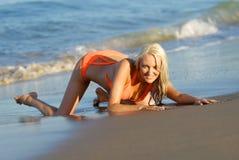 Mooi bikinimeisje Stock Afbeeldingen