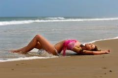Mooi bikinimeisje Stock Afbeelding