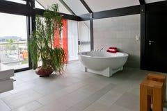 Mooi binnenland van een moderne badkamers stock afbeelding