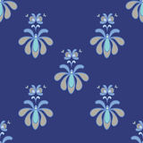 Mooi Blauw en Gray Vector Seamless Pattern Stock Fotografie