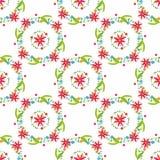 Mooi Bloem vectorpatroon op witte achtergrond Royalty-vrije Stock Afbeelding