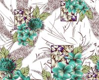 Mooi bloem woth ontwerp als achtergrond stock illustratie