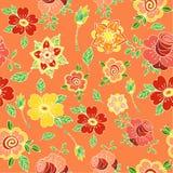 Mooi bloemen decoratief vectortekstkader met bloemen Royalty-vrije Illustratie