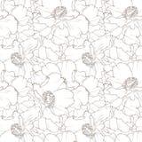 Mooi bloemen naadloos patroon stock illustratie