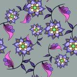Mooi bloemen naadloos patroon Stock Foto's