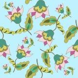 Mooi bloemen naadloos patroon Royalty-vrije Stock Afbeeldingen