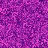 Mooi bloemen naadloos patroon met wervelingen Royalty-vrije Stock Afbeelding