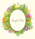 Mooi bloemencirkelontwerp Stock Afbeeldingen