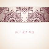 Mooi Bloemenkaartmalplaatje, Vectorillustratie Royalty-vrije Stock Foto