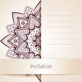 Mooi Bloemenkaartmalplaatje, Vectorillustratie Royalty-vrije Stock Foto's
