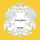 Mooi bloemenkader met bloemen vector illustratie