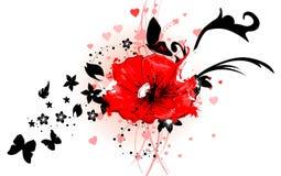 Mooi bloemenontwerp Royalty-vrije Stock Afbeelding
