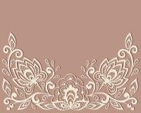 Mooi bloemenpatroon, een ontwerpelement in  stock illustratie