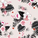 Mooi Bloemenpatroon in het vele soort bloemen tropisch stock illustratie