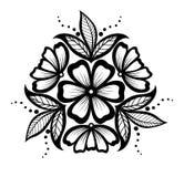 Mooi bloemenpatroon, ontwerpelement in de oude stijl. Stock Foto