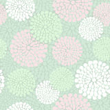 Mooi bloemenpatroon in roze en muntkleur, royalty-vrije illustratie