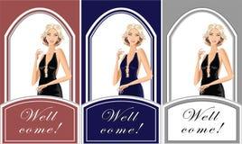 Mooi blond meisje voor winkelkleren Royalty-vrije Stock Foto