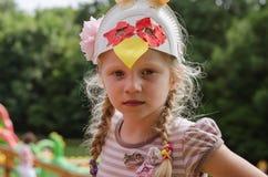 Mooi blond meisjesportret royalty-vrije stock foto