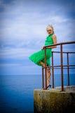 Mooi Blond Model stock foto's