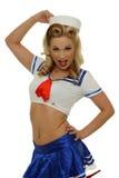 Mooi blond zeemansmeisje Stock Afbeeldingen