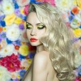 Mooi blonde Stock Afbeelding