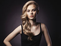 Mooi blonde Royalty-vrije Stock Afbeelding