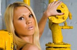 Mooi blonde meisje Stock Afbeeldingen