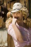 Mooi blonde model stock fotografie
